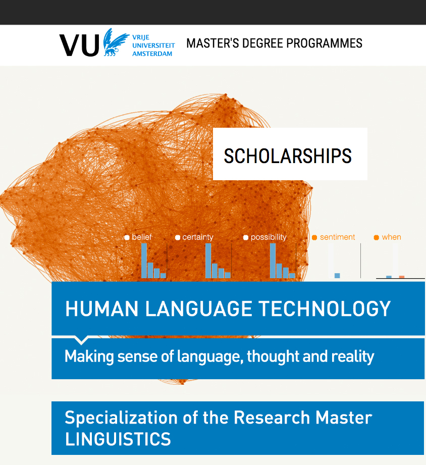 Scholarships Research Master Human Language Technology